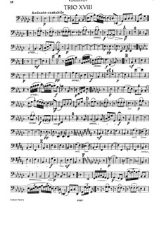 Klaviertrio Nr.41 in es-Moll, Hob.XV/31: Cellostimme by Joseph Haydn