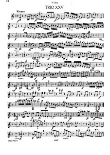 Klaviertrio Nr.19 in F-Dur, Hob.XV/6: Violinstimme by Joseph Haydn