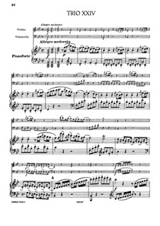 Klaviertrio Nr.21 in B-Dur, Hob.XV/8: Vollpartitur by Joseph Haydn
