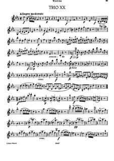 Klaviertrio Nr.23 in Es-Dur, Hob.XV/10: Violinstimme by Joseph Haydn