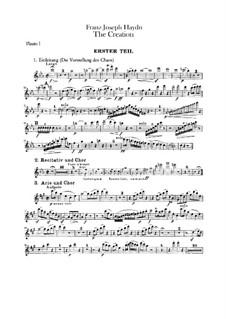 Die Schöpfung, Hob.XXI/2: Flötenstimme by Joseph Haydn
