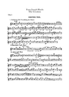 Die Schöpfung, Hob.XXI/2: Oboenstimmen by Joseph Haydn