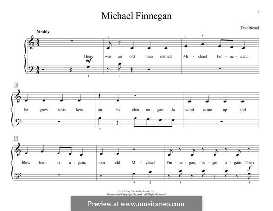 Michael Finnegan: Für Klavier by folklore