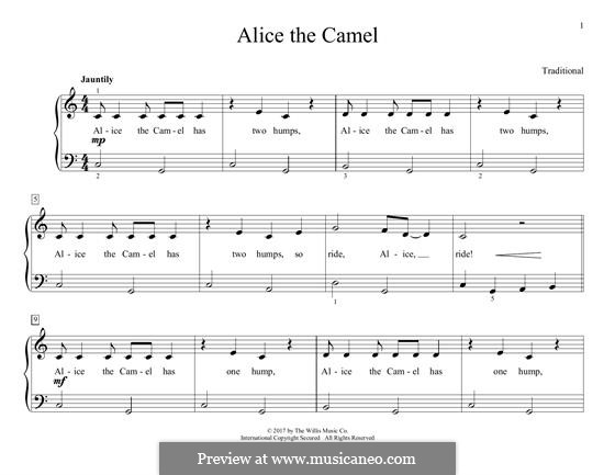 Alice the Camel: Für Klavier by folklore