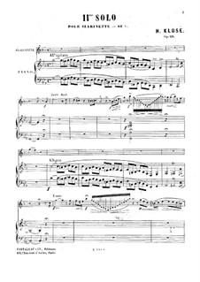 Solo Nr.11 für Klarinette und Klavier, Op.28: Solo Nr.11 für Klarinette und Klavier by Hyacinthe Eléonore Klosé