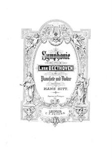 Vollständiger Sinfonie: Version für Violine und Klavier by Ludwig van Beethoven