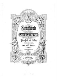 Vollständiger Sinfonie: Version für Violine und Klavier – Violinstimme by Ludwig van Beethoven