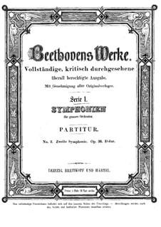 Sinfonie Nr.2, Op.36: Vollpartitur by Ludwig van Beethoven
