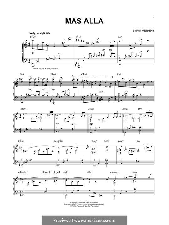 Mas Alla: Für Klavier by Pat Metheny