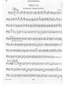 Trio für Violine, Cello und Klavier Nr.10, Op.44: Cellostimme by Ludwig van Beethoven