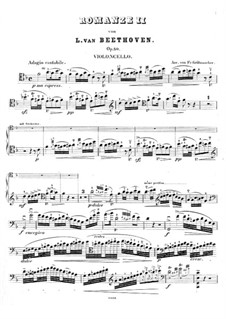 Romanze für Violine und Orchester Nr.2 F-Dur, Op.50: Version für Cello und Klavier – Cellostimme by Ludwig van Beethoven