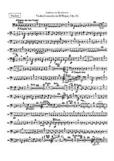 Konzert für Violine und Orchester in D-Dur, Op.61: Paukenstimme by Ludwig van Beethoven