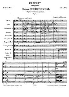 Konzert für Violine und Orchester in D-Dur, Op.61: Teil I by Ludwig van Beethoven
