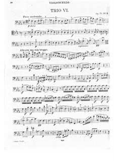 Trio für Violine, Cello und Klavier Nr.6, Op.70 No.2: Cellostimme by Ludwig van Beethoven