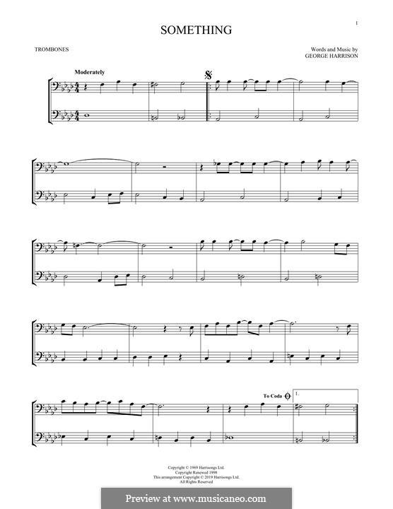 Something (The Beatles): For two trombones by John Lennon, Paul McCartney