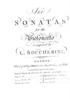 Sechs Sonaten für Cello und Basso Continuo, G.1, 4-6, 10, 13: Sechs Sonaten für Cello und Basso Continuo by Luigi Boccherini