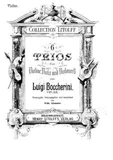 Sechs Streichtrios, Op.47 G.107-112: Violinstimmen by Luigi Boccherini