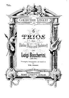Sechs Streichtrios, Op.47 G.107-112: Violastimmen by Luigi Boccherini