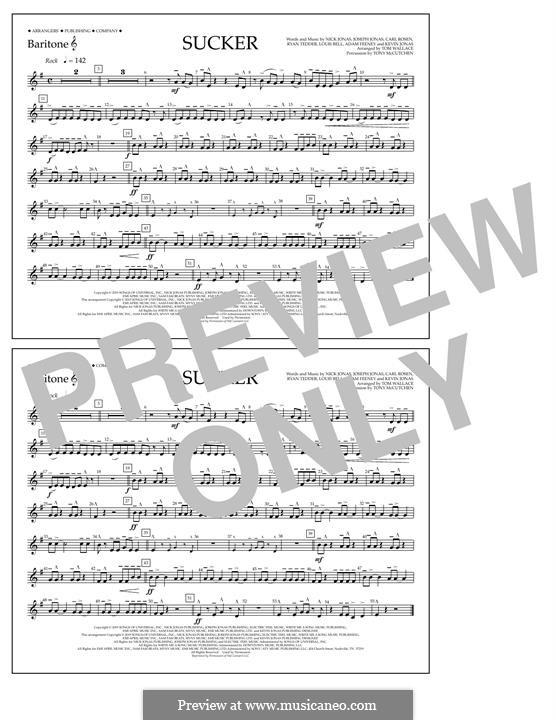 Sucker (Jonas Brothers): Baritone T.C. part by Joseph Jonas, Kevin Jonas Sr., Nicholas Jonas, Ryan B Tedder, Louis Bell, Frank Dukes