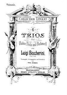 Sechs Streichtrios, Op.47 G.107-112: Cellostimmen by Luigi Boccherini