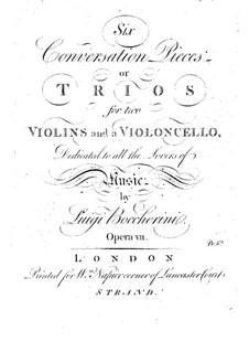 Sechs Streichtrios, Op.7 G.125-130: Violinstimme I by Luigi Boccherini