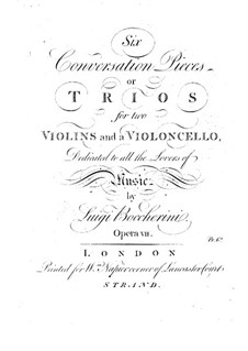 Sechs Streichtrios, Op.7 G.125-130: Violinstimme II by Luigi Boccherini