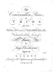 Sechs Streichtrios, Op.7 G.125-130: Cellostimmen by Luigi Boccherini