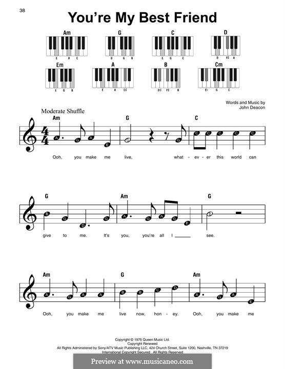 You're My Best Friend (Queen): Für Klavier by John Deacon