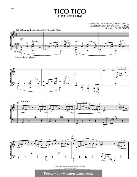 Tico-Tico no fubá: Für Klavier by Zequinha de Abreu