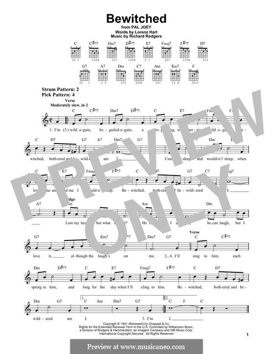 Bewitched (The Betty Smith Group): Für Gitarre by Richard Rodgers
