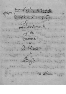 Divertimento in C-Dur für zwei Violinen und Basso Continuo: Divertimento in C-Dur für zwei Violinen und Basso Continuo by Florian Johann Deller