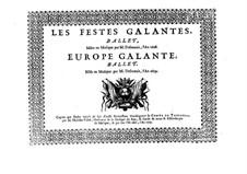 Les fêstes galantes: Soprano II part by Henri Desmarets