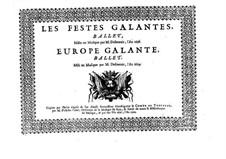 Les fêstes galantes: High tenor part by Henri Desmarets