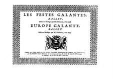 Les fêstes galantes: Tenorstimme by Henri Desmarets