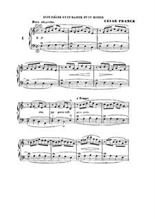 L'Organiste. Neunundfünfzig Stücke für Harmonium: Sieben Stücke in C-Dur und c-Moll by César Franck