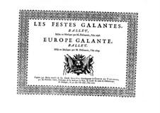 Les fêstes galantes: Bassstimme by Henri Desmarets