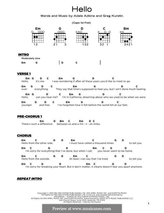 Instrumental version: Für Gitarre by Adele