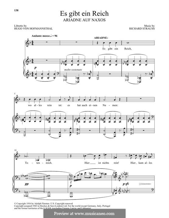 Ariadne auf Naxos: Es Gibt Ein Reich by Richard Strauss