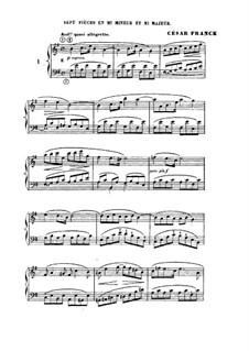 L'Organiste. Neunundfünfzig Stücke für Harmonium: Sieben Stücke in e-Moll und E-Dur by César Franck