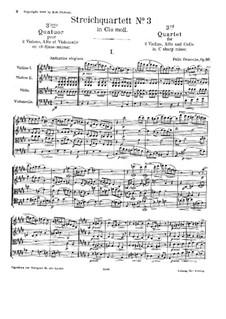 Streichquartett Nr.3, Op.66: Vollpartitur by Felix Draeseke