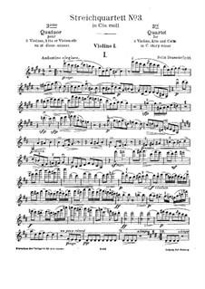 Streichquartett Nr.3, Op.66: Stimmen by Felix Draeseke