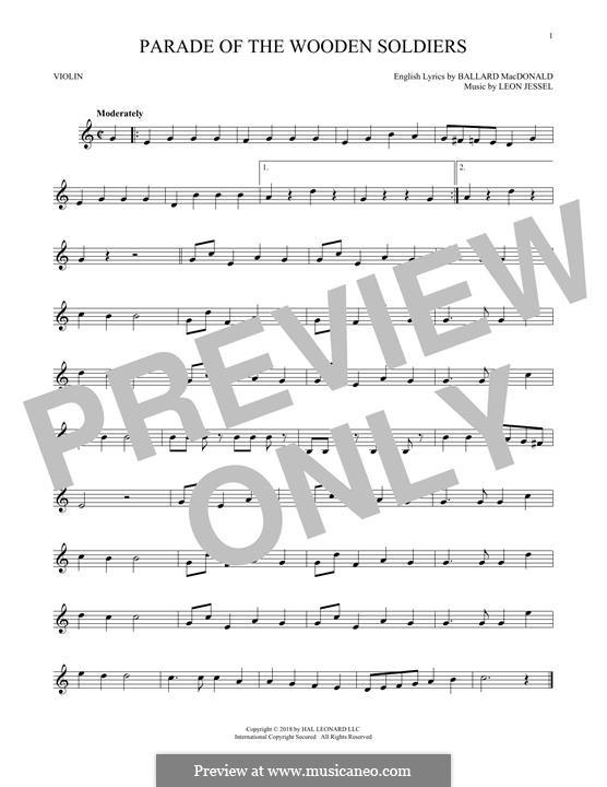 Parade of the Wooden Soldiers: Für Violine by Leon Jessel