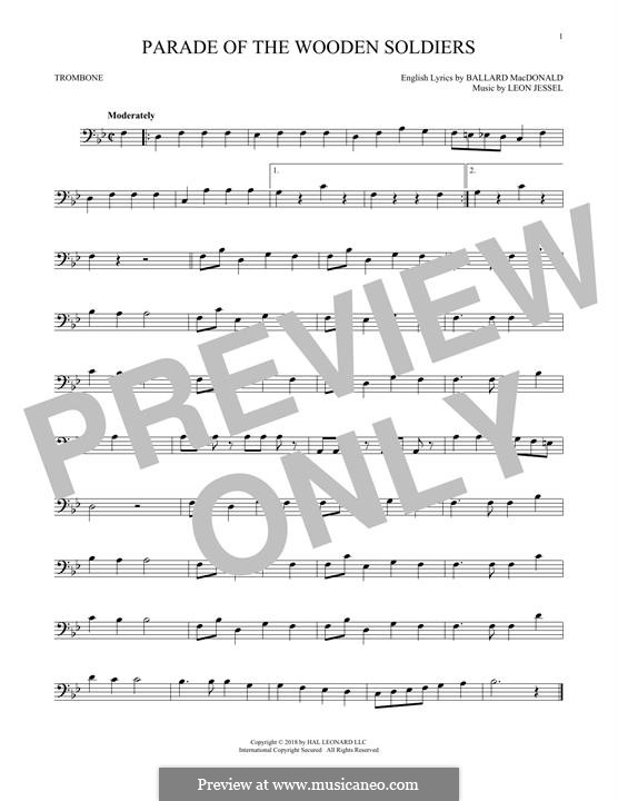 Parade of the Wooden Soldiers: For trombone by Leon Jessel