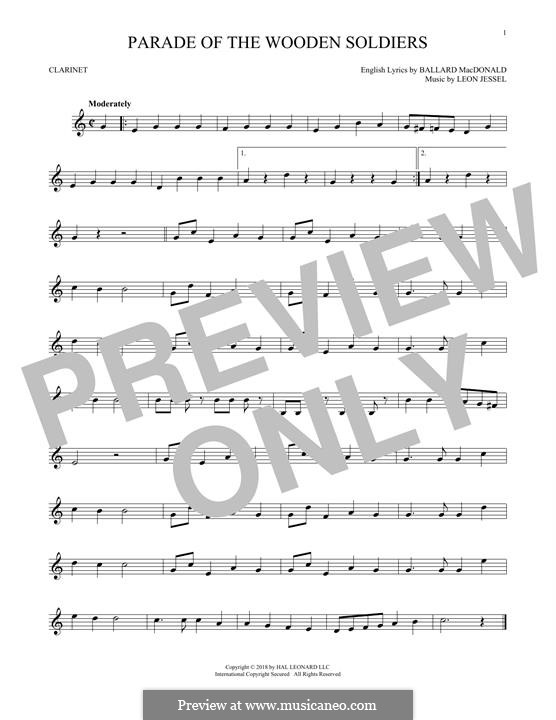 Parade of the Wooden Soldiers: Für Klarinette by Leon Jessel