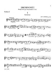 Miniaturen für zwei Violinen und Bratsche, B.149 Op.75a: Stimmen by Antonín Dvořák