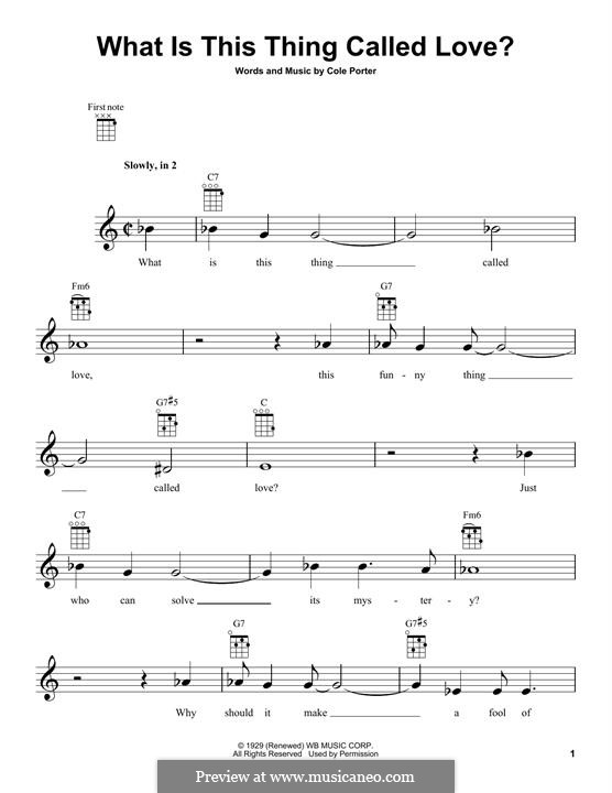 What Is This Thing Called Love?: Für Ukulele by Cole Porter