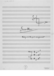 Sommermusik: Vollpartitur by Ernst Levy