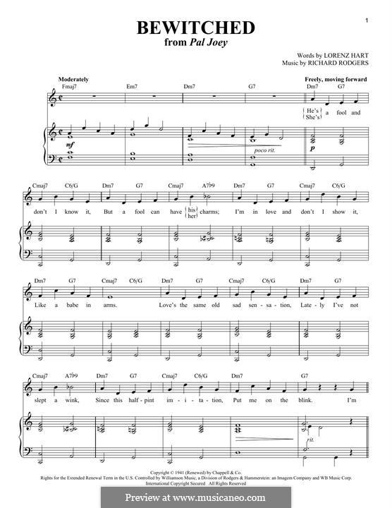 Bewitched (The Betty Smith Group): Für Stimme und Klavier by Richard Rodgers