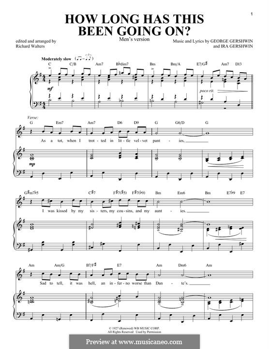 How Long Has This Been Going On?: For voice and piano (Men's version) by George Gershwin