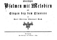 Psalmen mit Melodien, H 733 Wq 196: Psalmen mit Melodien by Carl Philipp Emanuel Bach